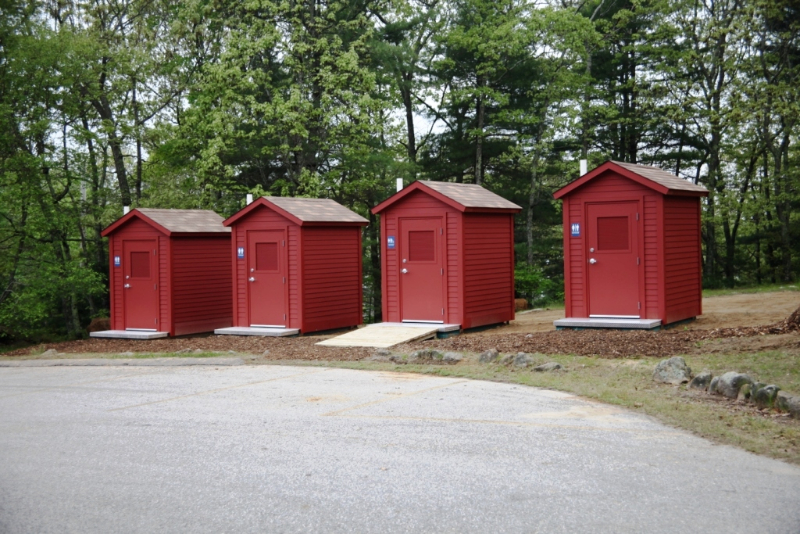 Clivus restrooms at Burlingame State Park
